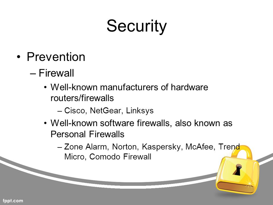 Security Prevention Firewall