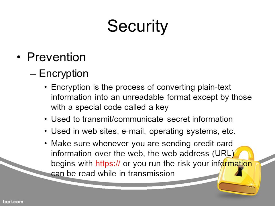 Security Prevention Encryption