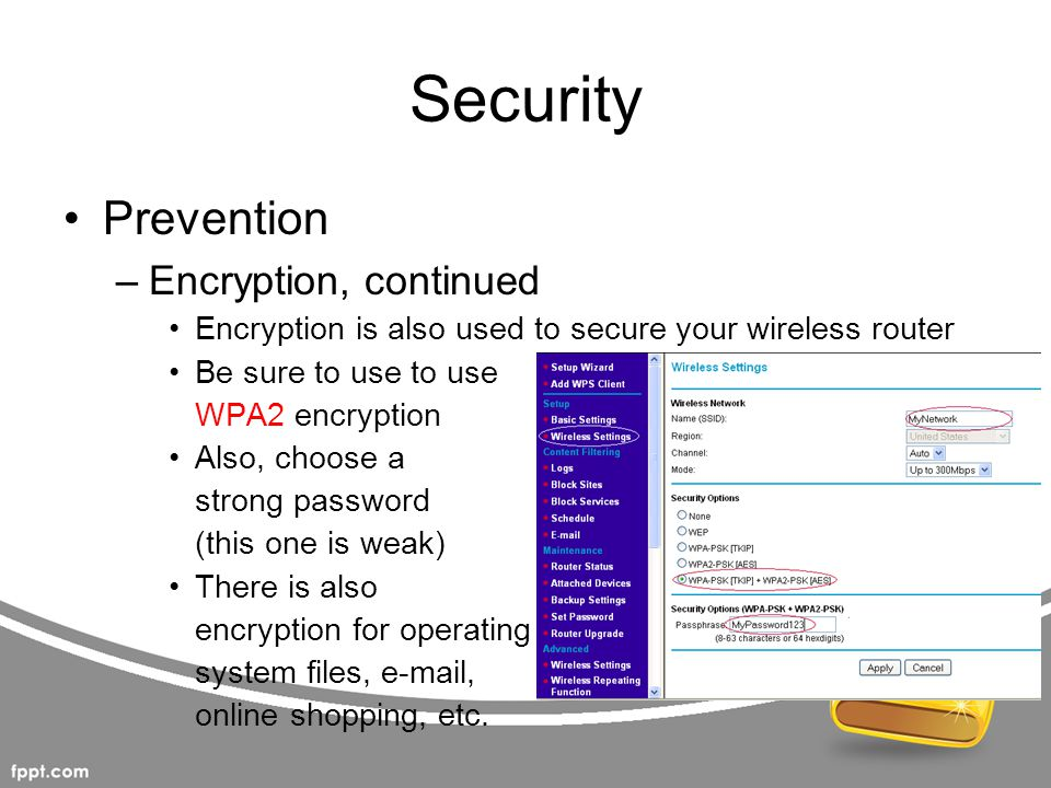 Security Prevention Encryption, continued