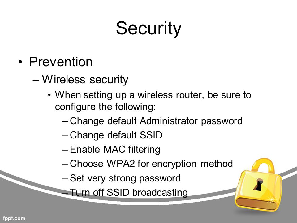Security Prevention Wireless security