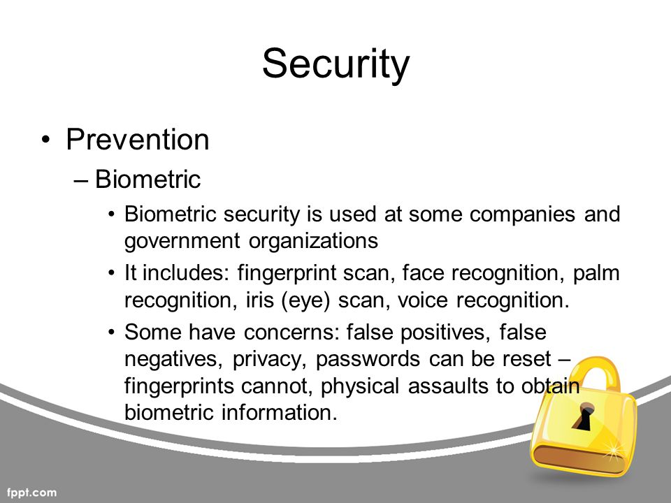 Security Prevention Biometric