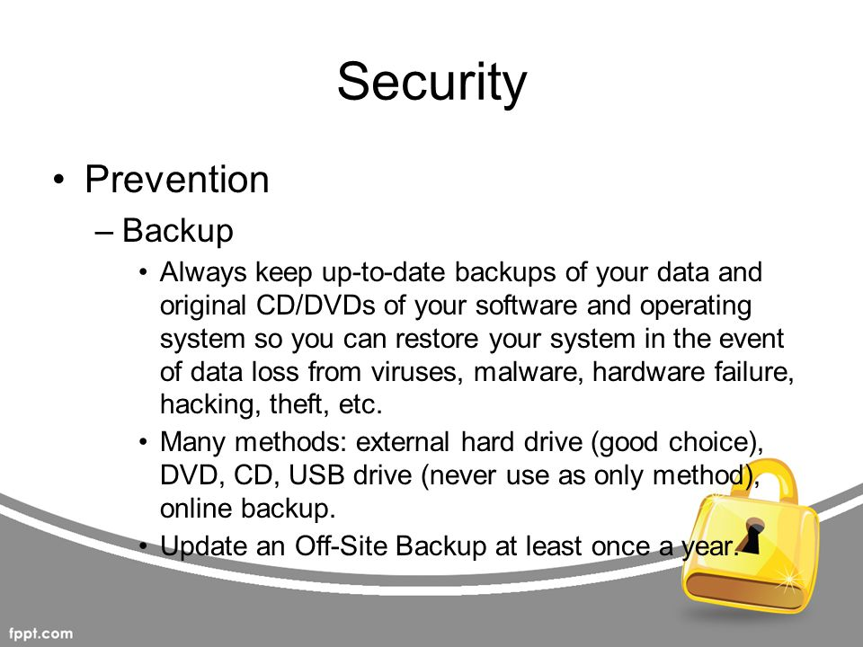Security Prevention Backup