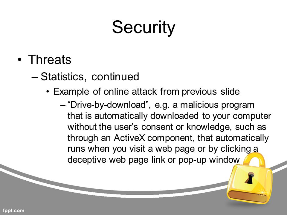 Security Threats Statistics, continued