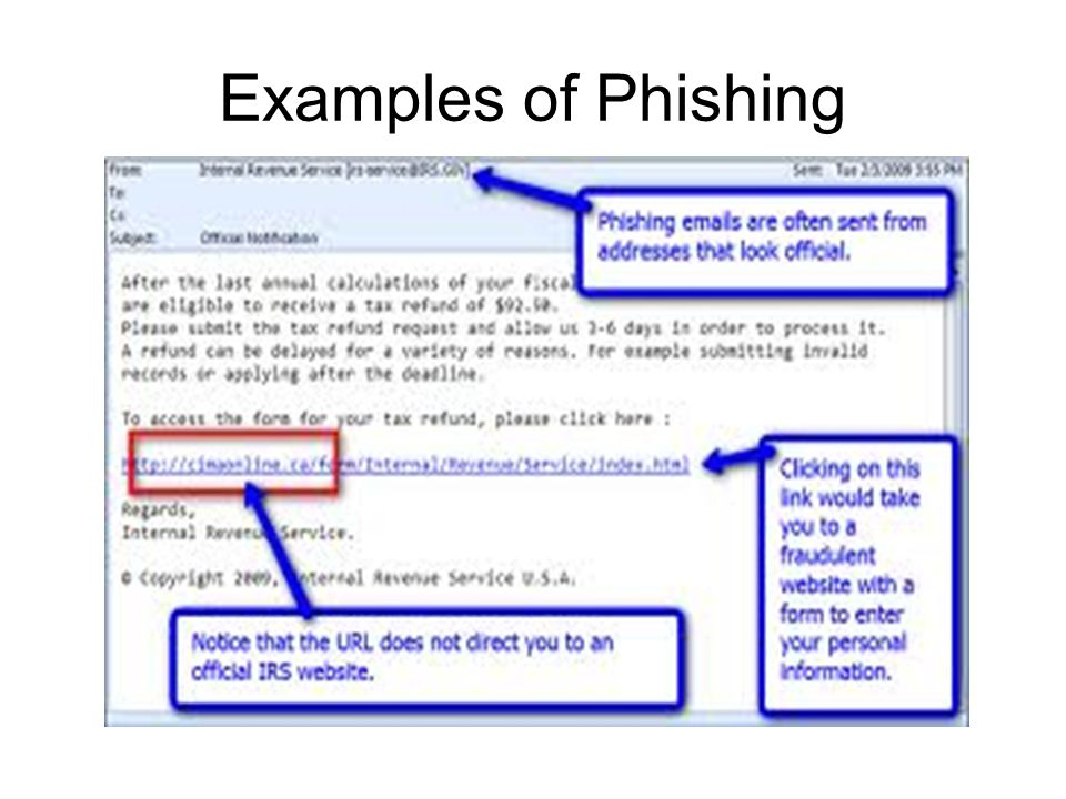 Examples of Phishing