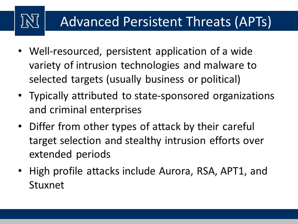Advanced Persistent Threats (APTs)