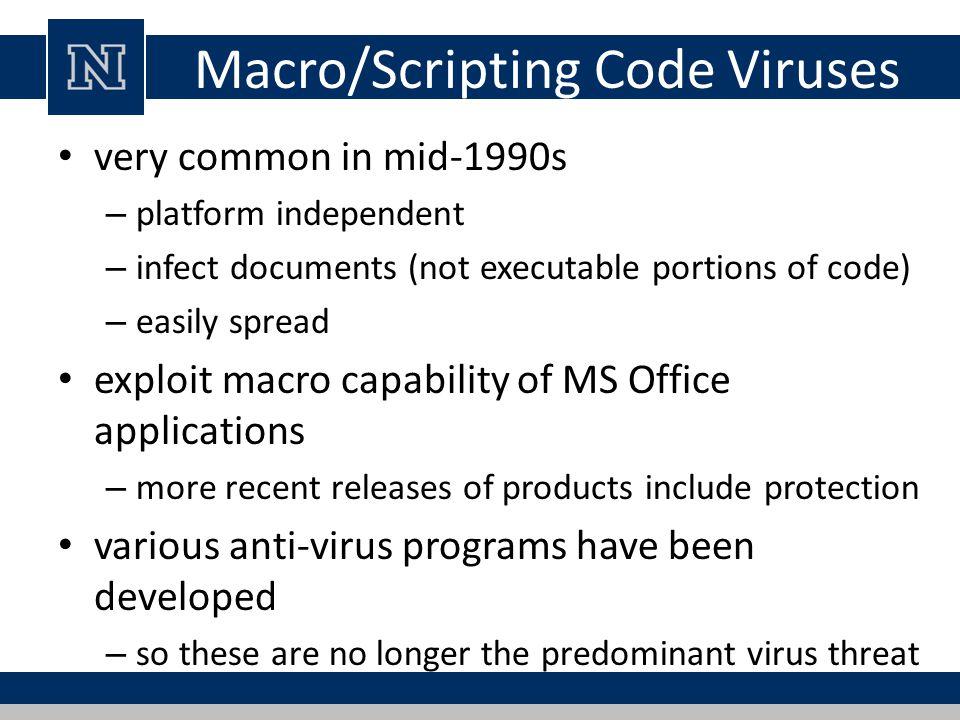 Macro/Scripting Code Viruses