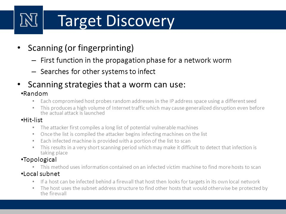Target Discovery Scanning (or fingerprinting)