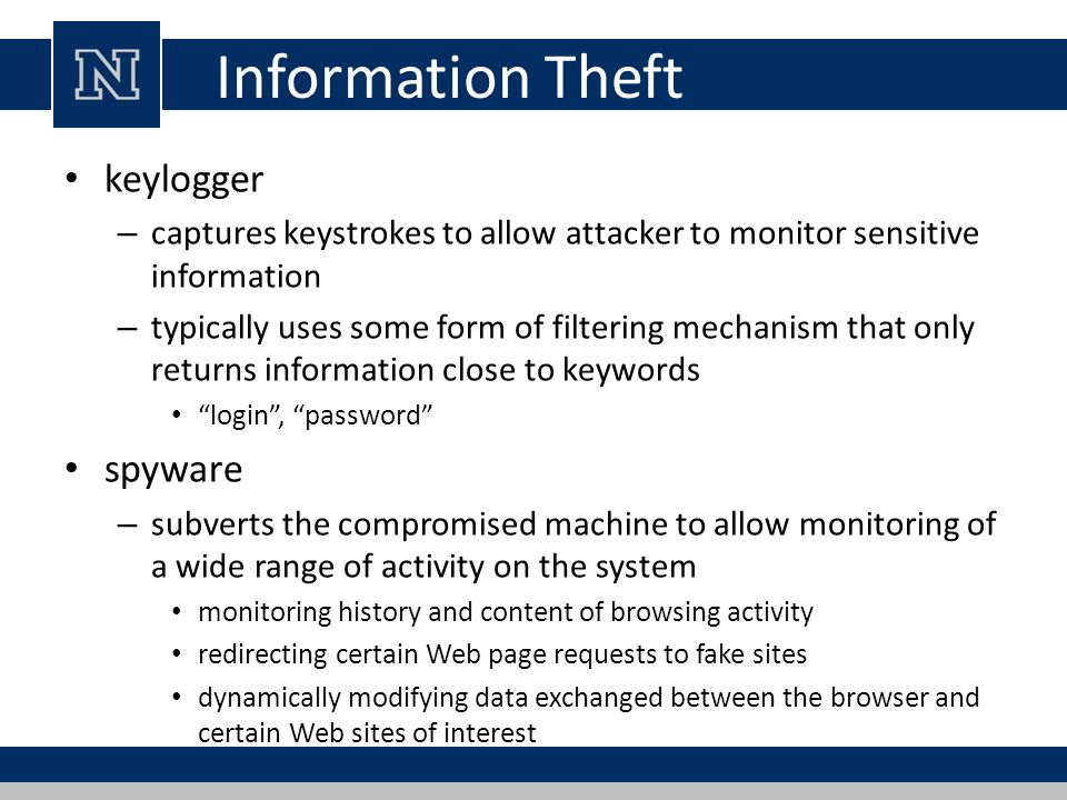 Information Theft keylogger spyware