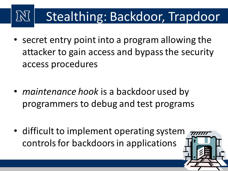 Stealthing: Backdoor, Trapdoor