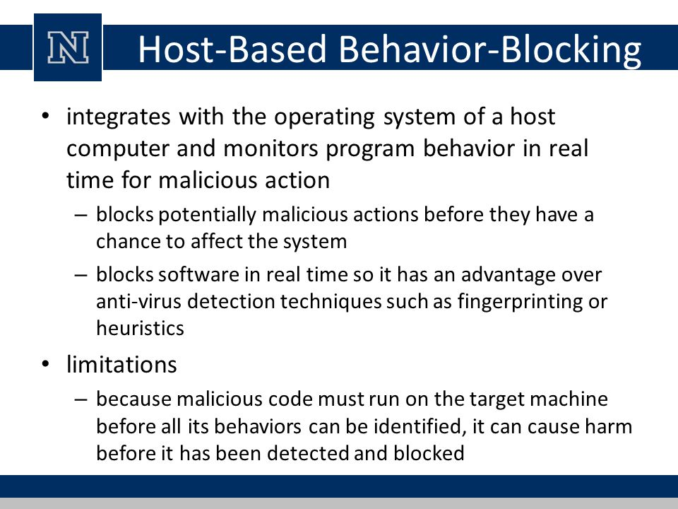 Host-Based Behavior-Blocking