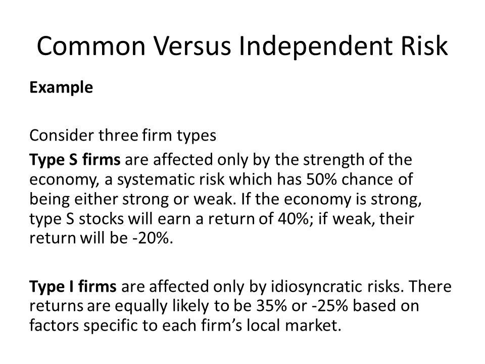 Common Versus Independent Risk