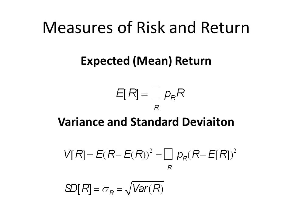 Measures of Risk and Return