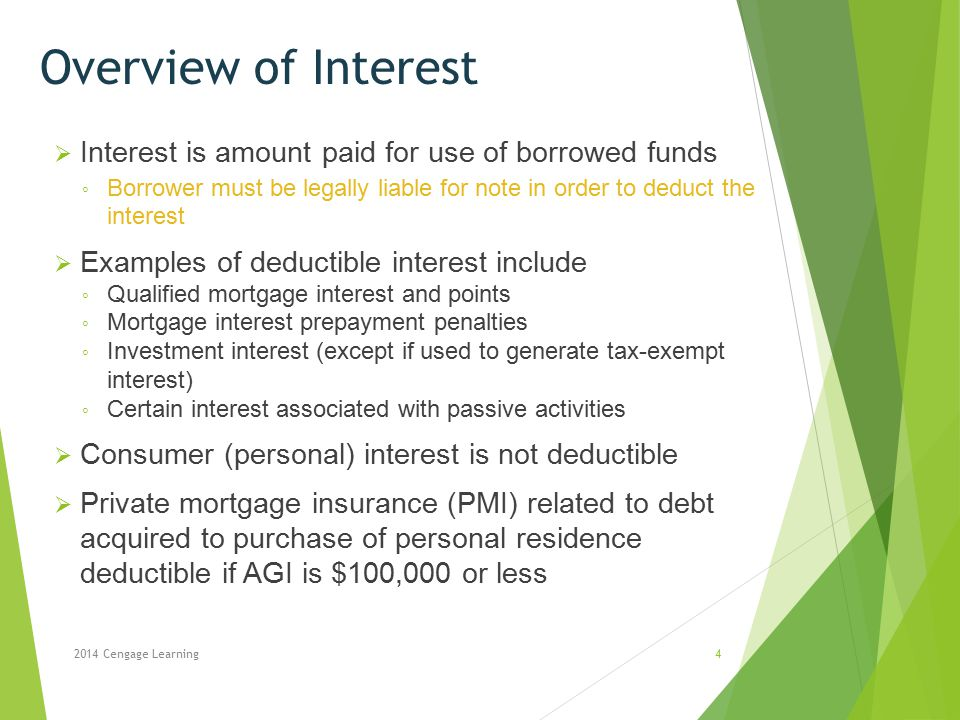 Overview of Interest Interest is amount paid for use of borrowed funds