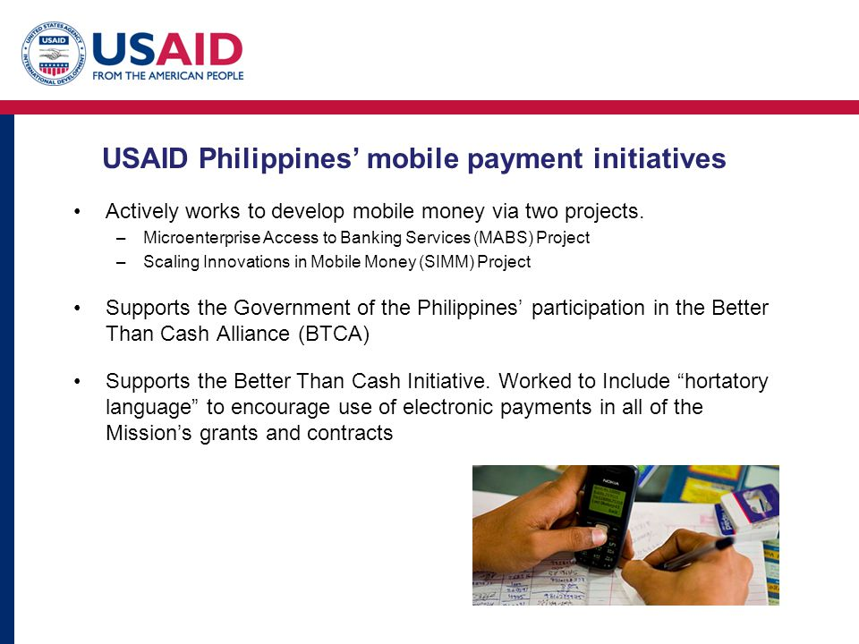USAID Philippines' mobile payment initiatives