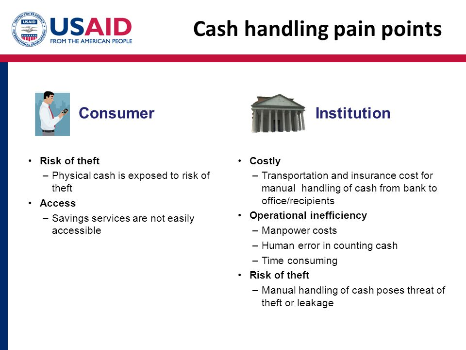 Cash handling pain points