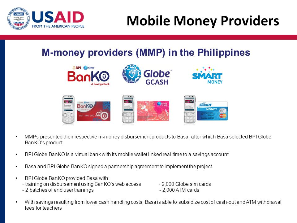 Mobile Money Providers