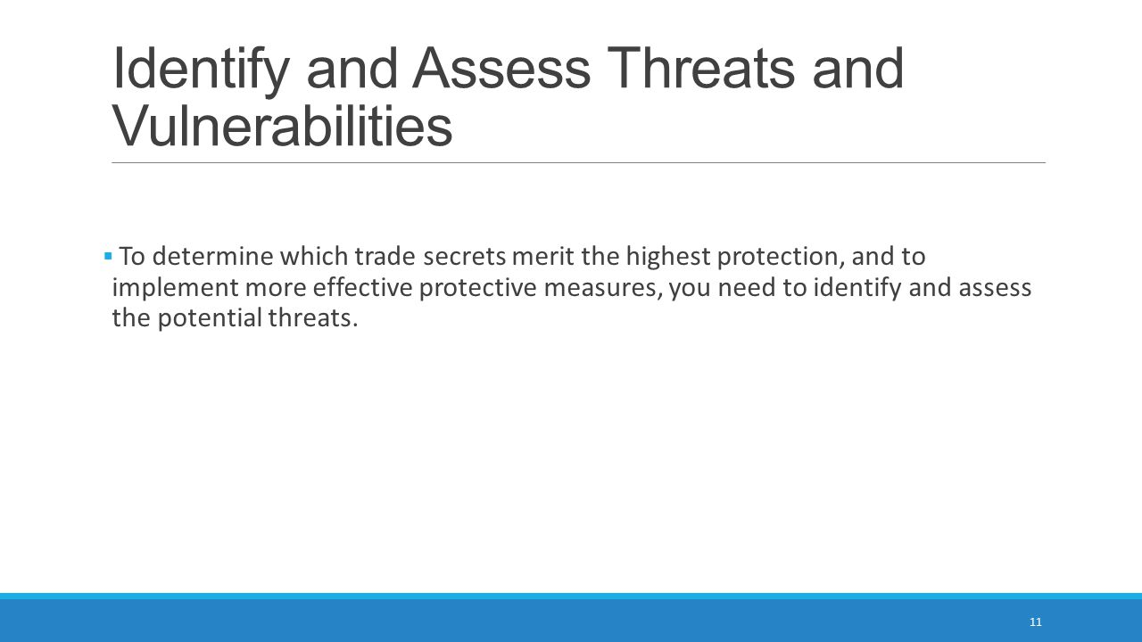Identify and Assess Threats and Vulnerabilities