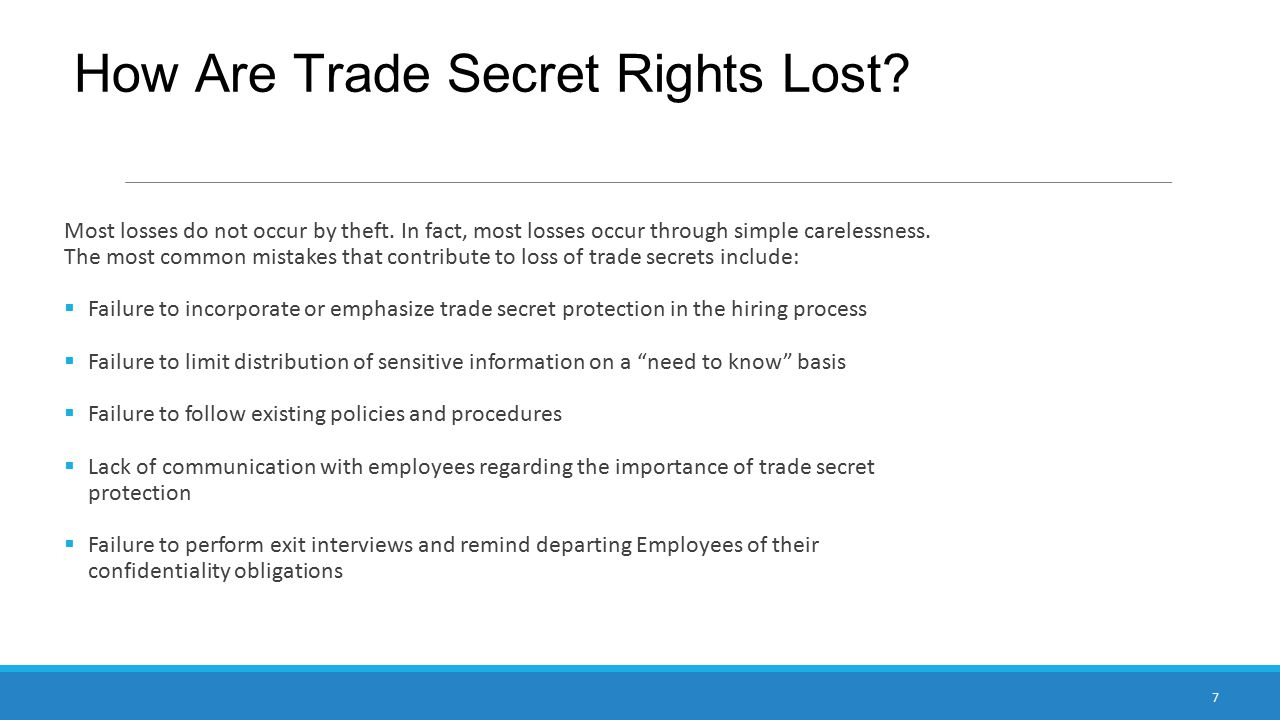 How Are Trade Secret Rights Lost