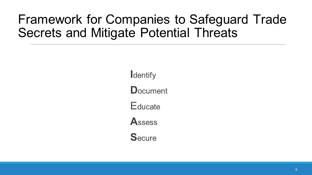Framework for Companies to Safeguard Trade Secrets and Mitigate Potential Threats