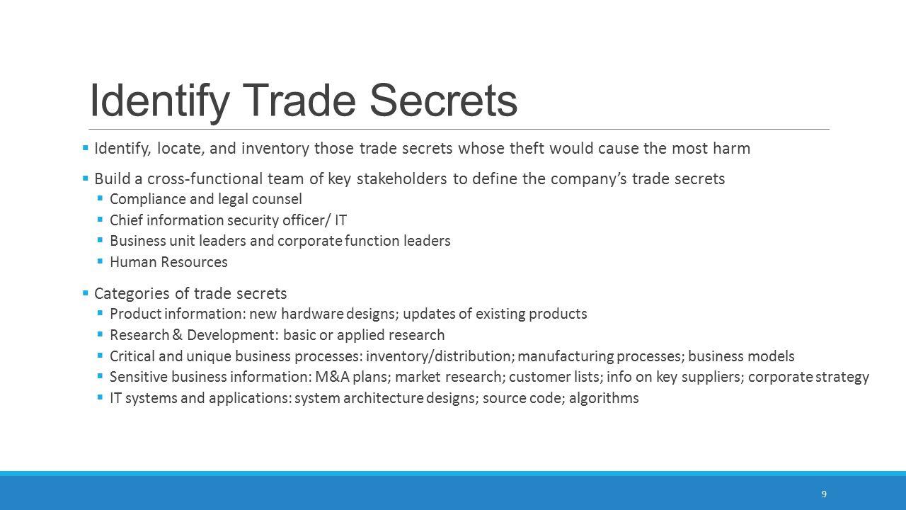 Identify Trade Secrets