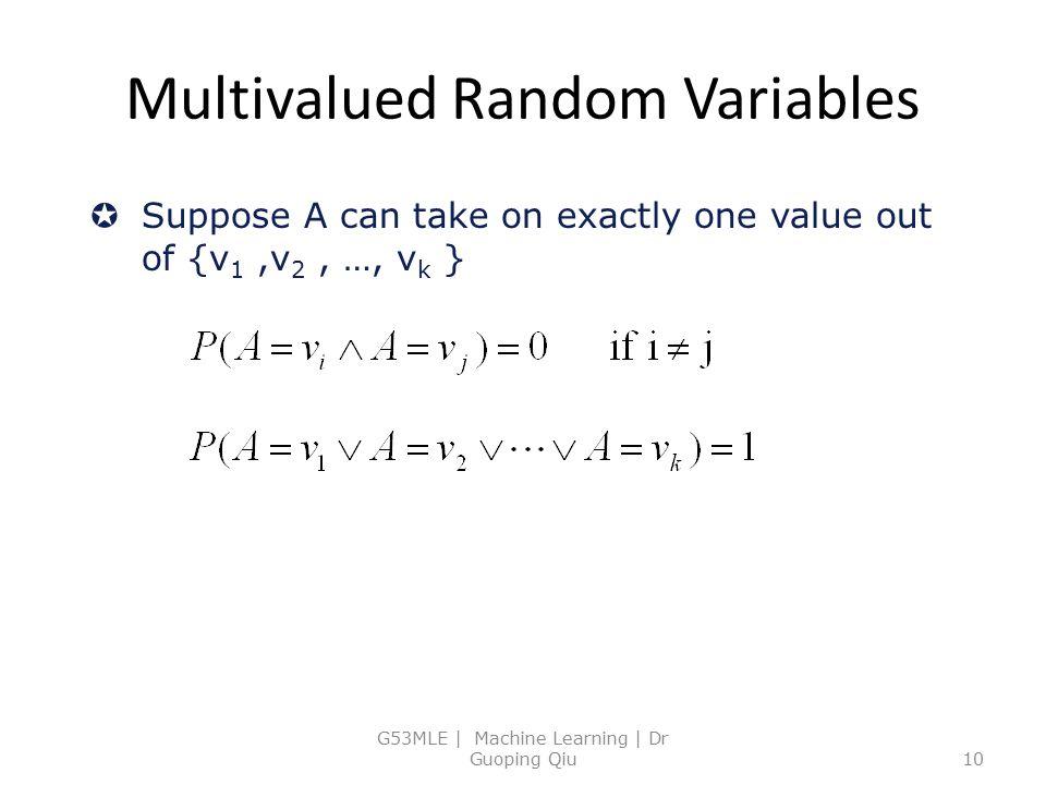 Multivalued Random Variables