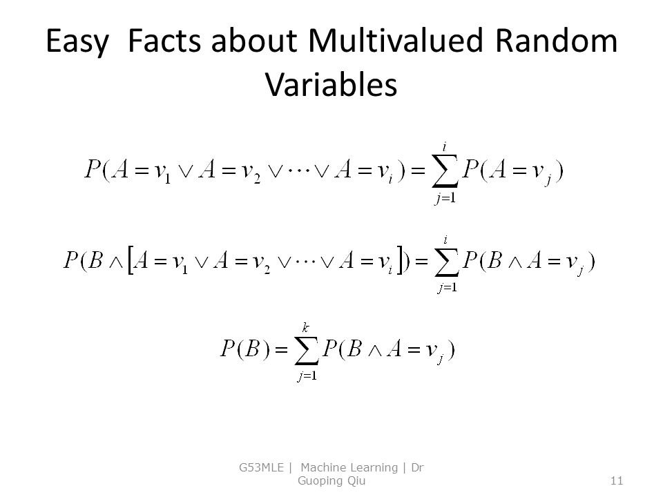 Easy Facts about Multivalued Random Variables