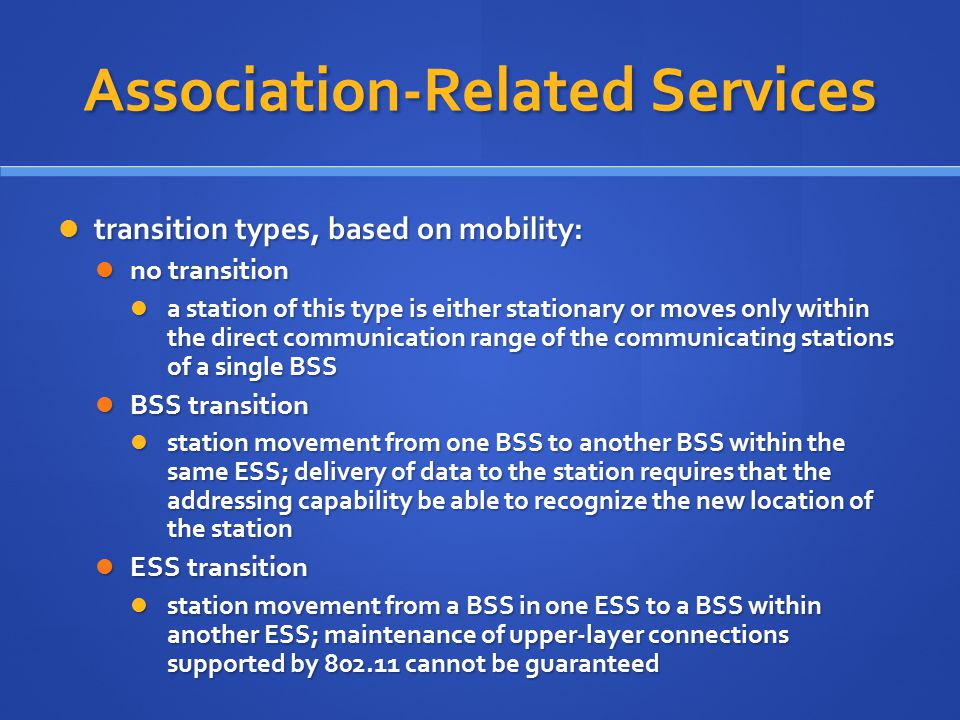Association-Related Services