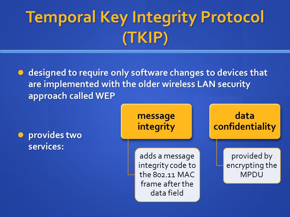 Temporal Key Integrity Protocol (TKIP)