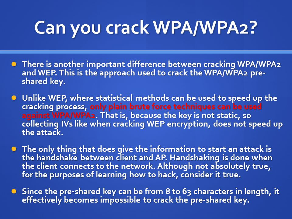 Can you crack WPA/WPA2