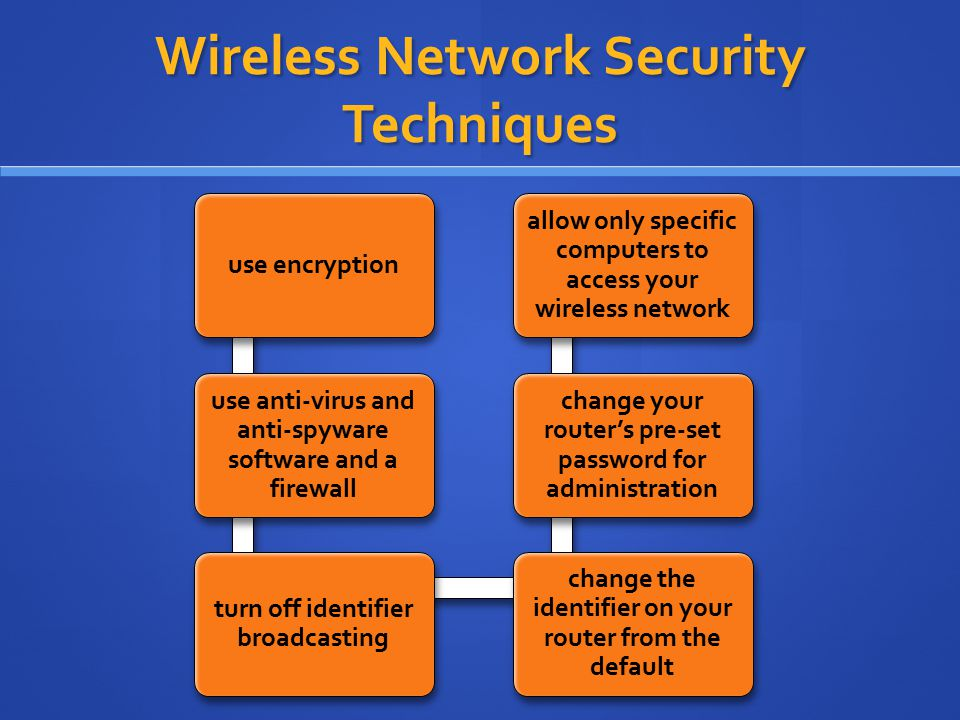 Wireless Network Security Techniques