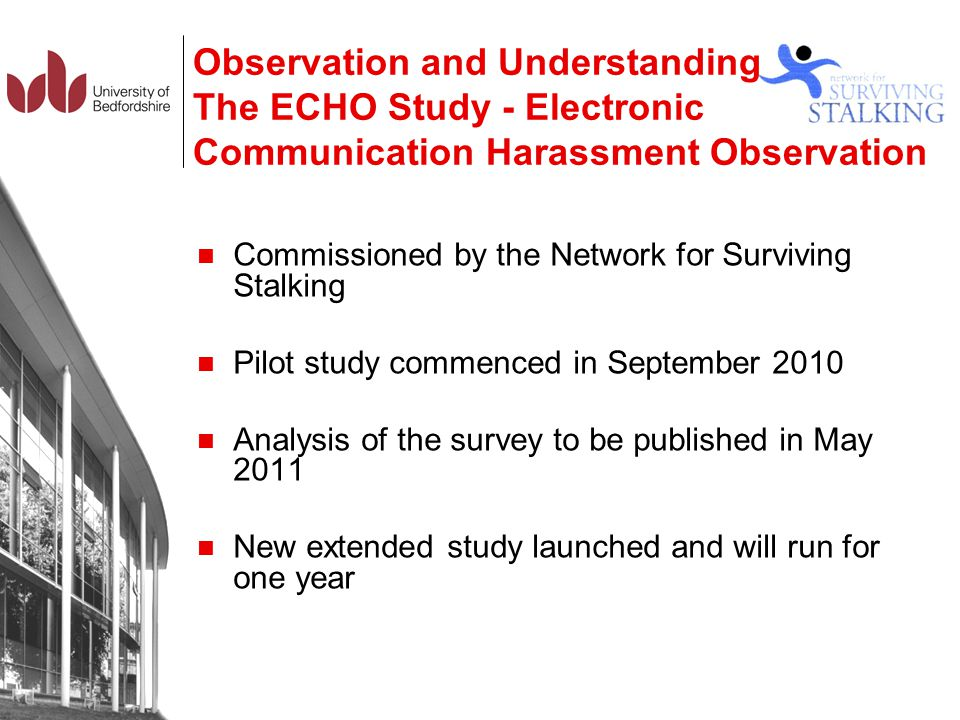 Observation and Understanding The ECHO Study - Electronic Communication Harassment Observation