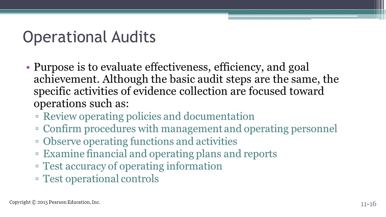 Operational Audits