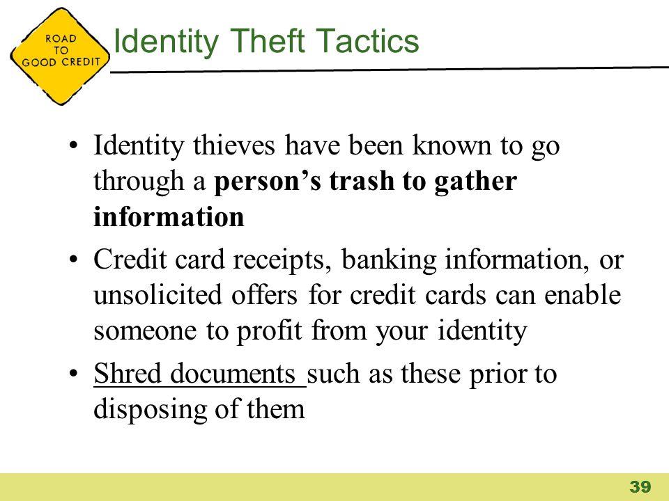 Identity Theft Tactics