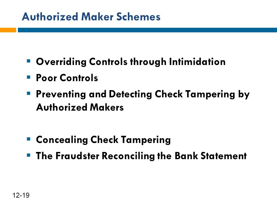 Authorized Maker Schemes