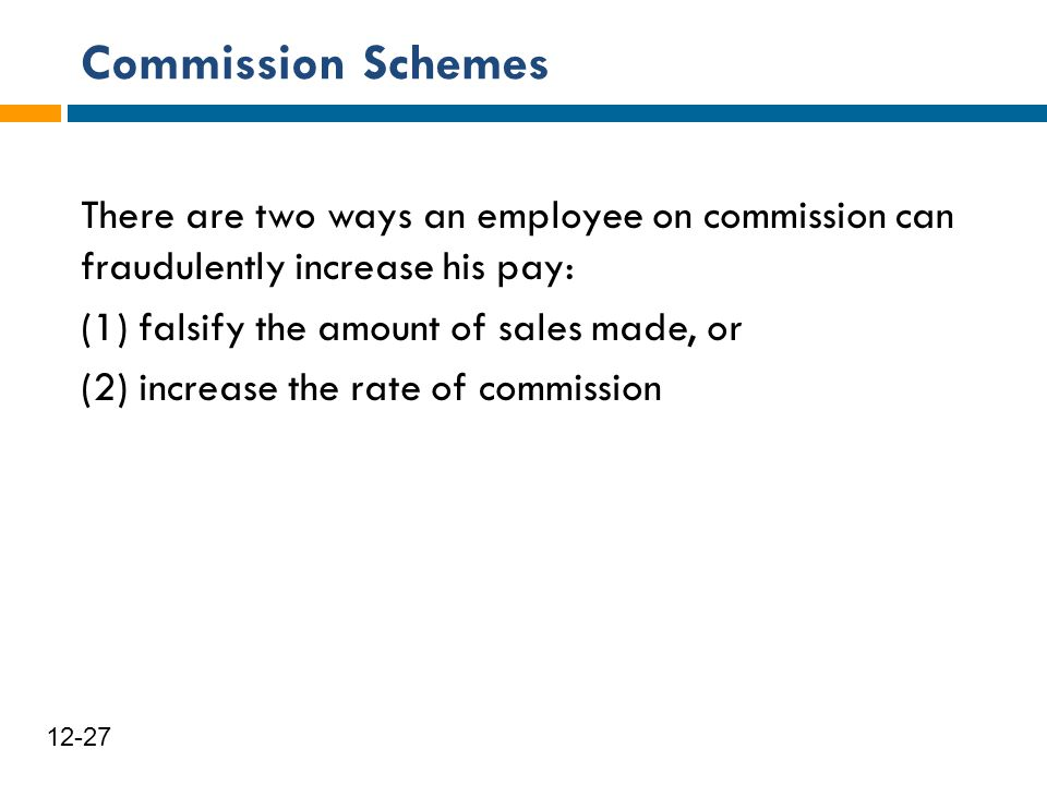 Commission Schemes
