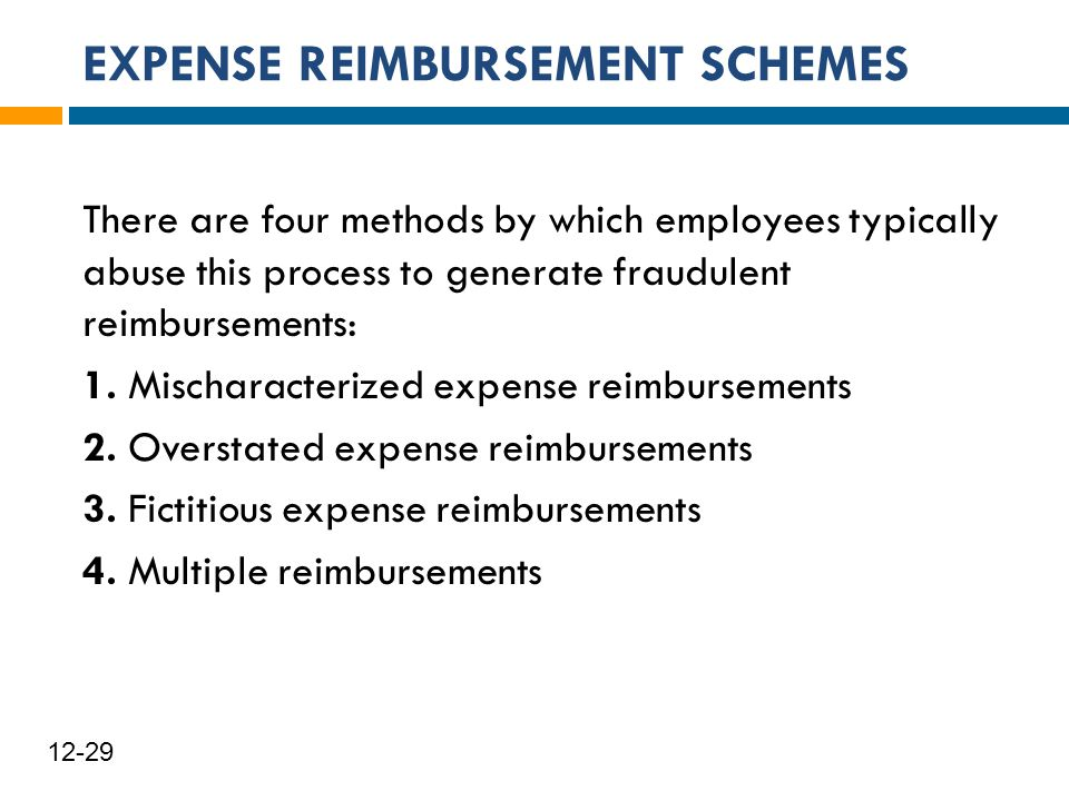 EXPENSE REIMBURSEMENT SCHEMES