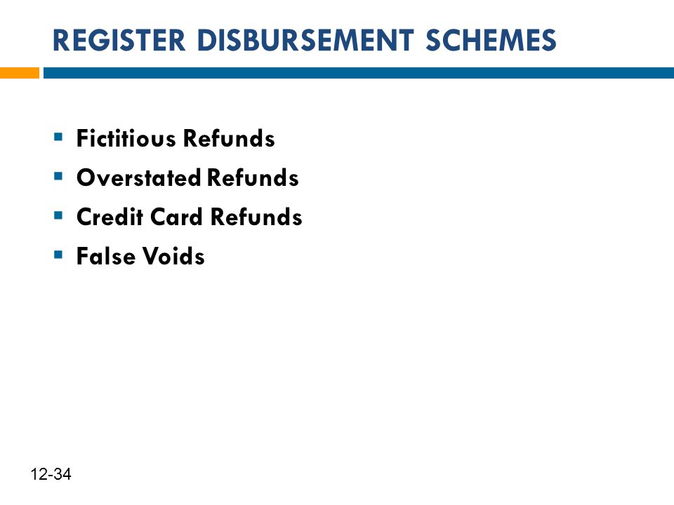 REGISTER DISBURSEMENT SCHEMES