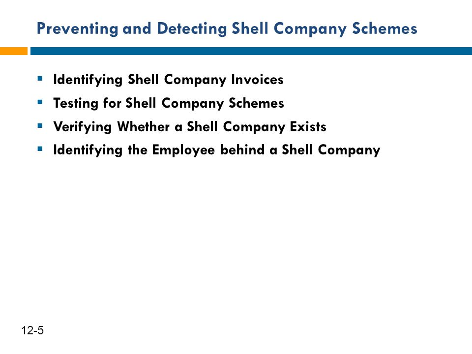 Preventing and Detecting Shell Company Schemes