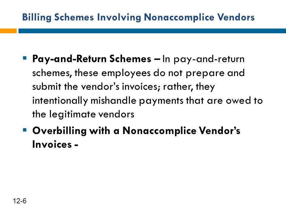 Billing Schemes Involving Nonaccomplice Vendors