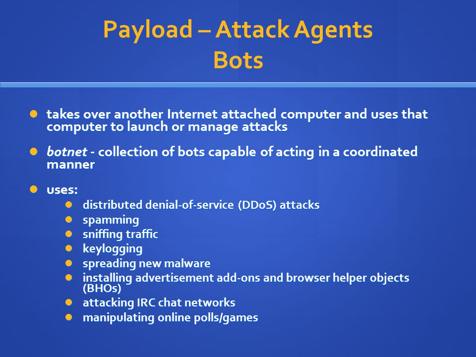Payload – Attack Agents Bots