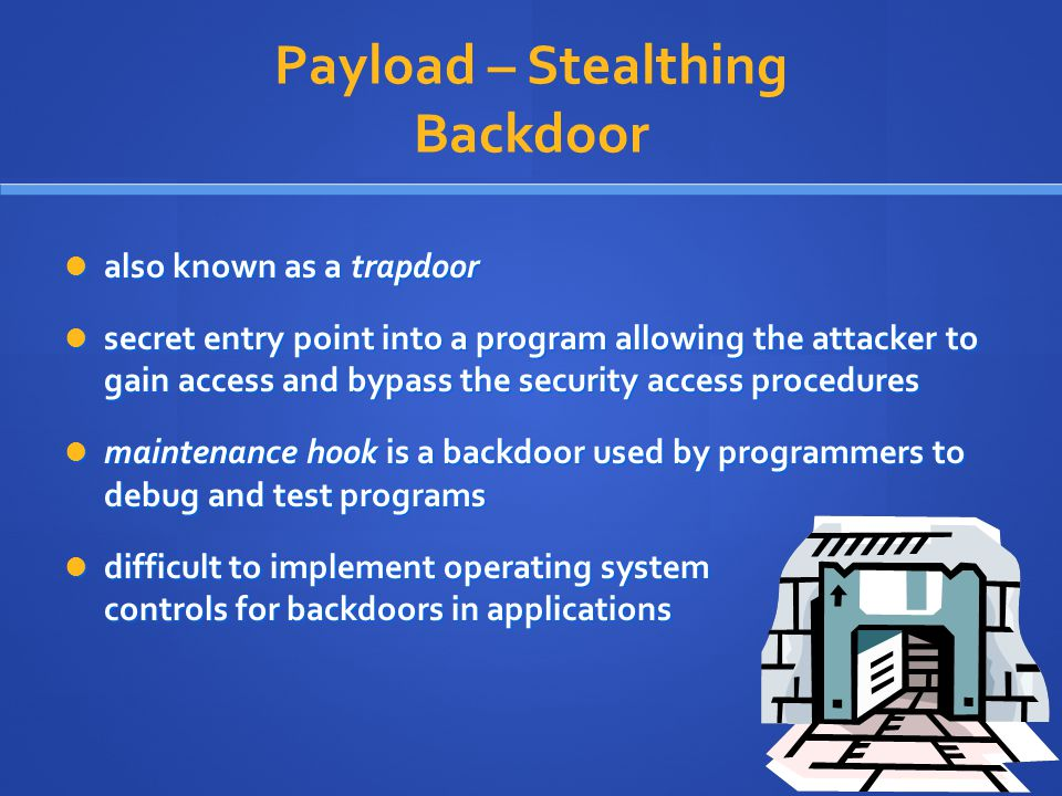 Payload – Stealthing Backdoor