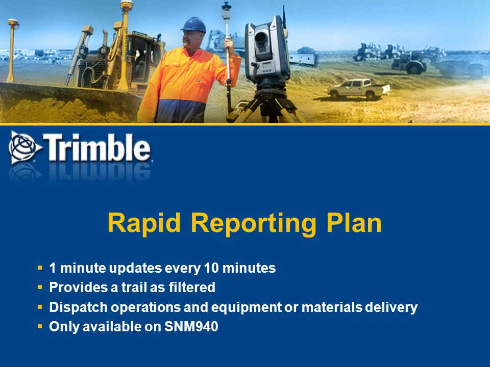 Rapid Reporting Plan 1 minute updates every 10 minutes