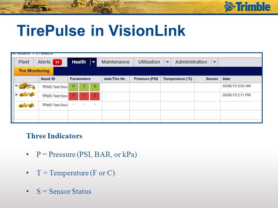 TirePulse in VisionLink