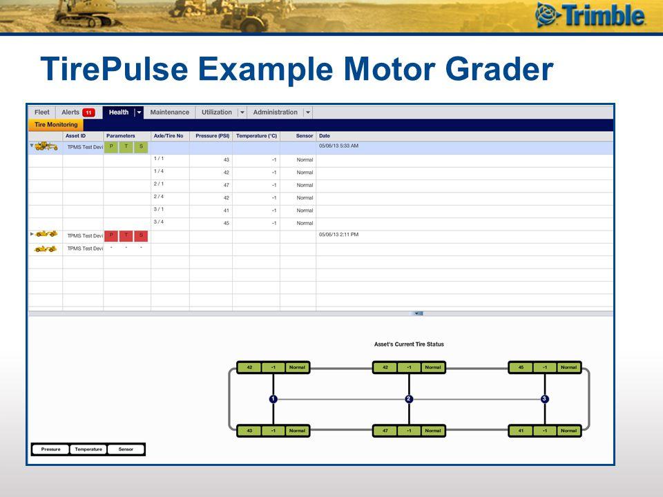 TirePulse Example Motor Grader