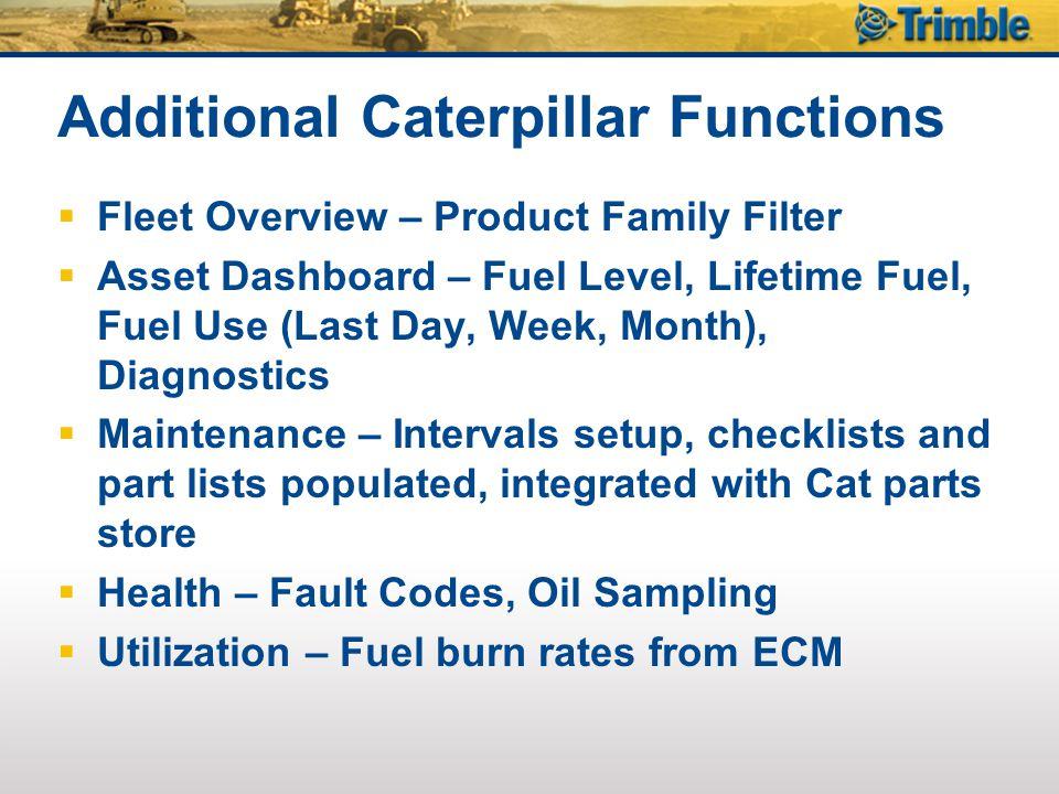 Additional Caterpillar Functions