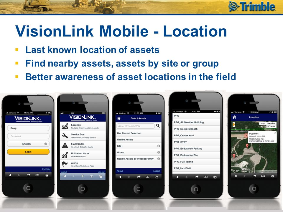 VisionLink Mobile - Location