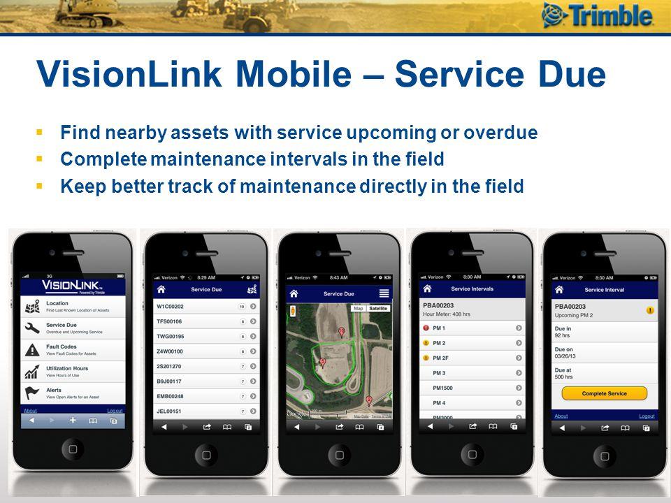 VisionLink Mobile – Service Due