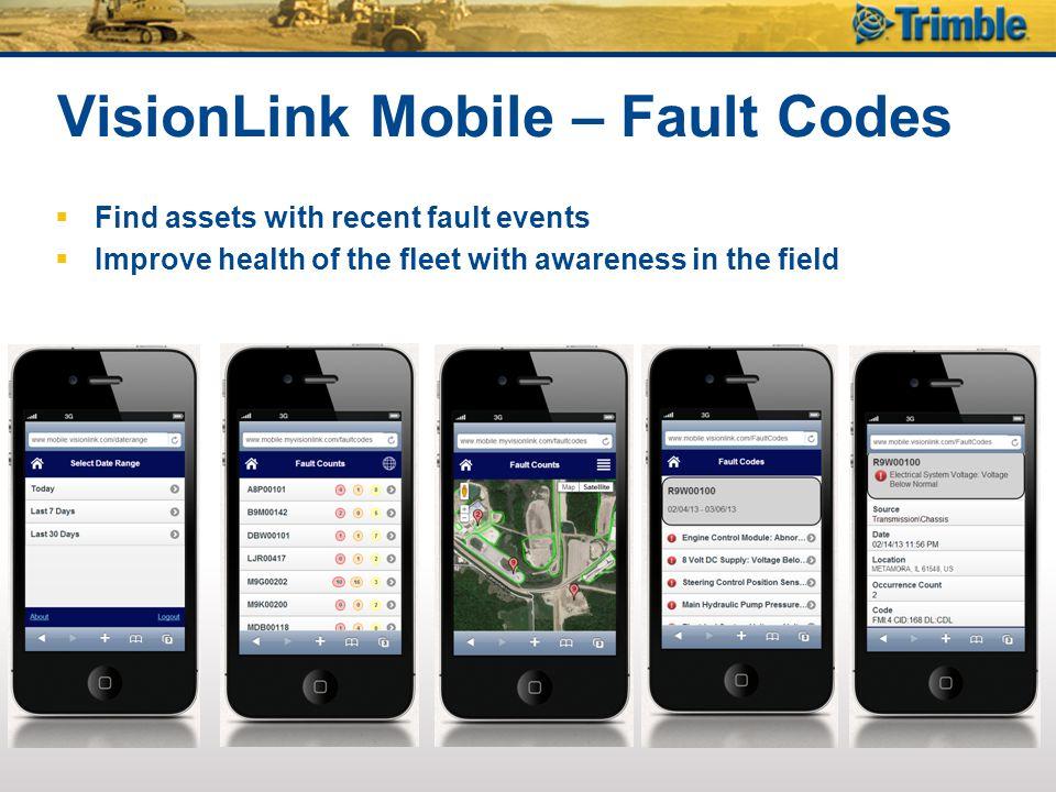 VisionLink Mobile – Fault Codes