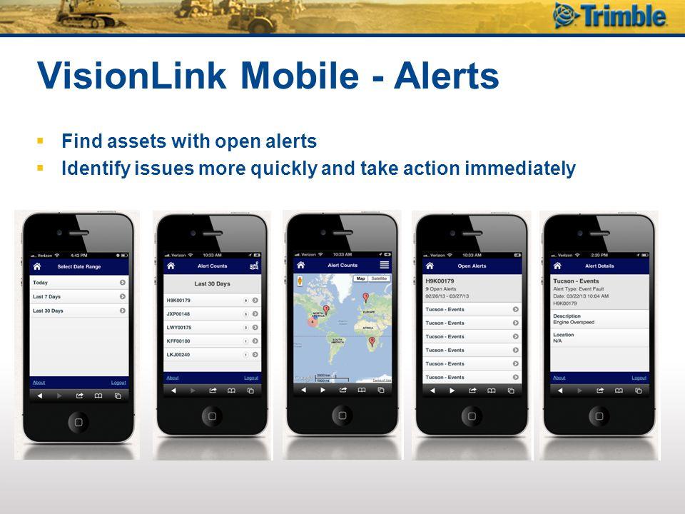 VisionLink Mobile - Alerts