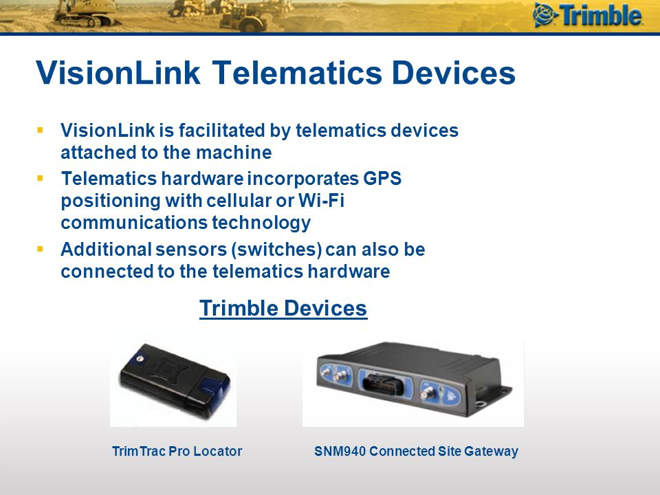 VisionLink Telematics Devices